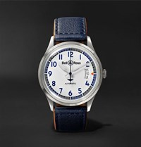 Bell And Ross Br V1 92 Racing Bird Limited Edition Automatic 38.5Mm Stainless Steel Leather Watch White