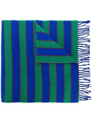 Kenzo Knitted Scarf Blue