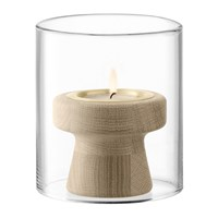 Lsa International Mistral Tealight Holder And Glass Shade 12Cm