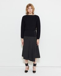 Christophe Lemaire Wrap Front Pleated Skirt