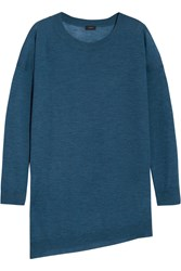 Joseph Cashair Asymmetric Cashmere Sweater Blue