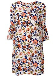 Essentiel Antwerp Floral Print Mini Dress White