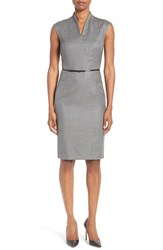 Boss Women's Difena Minidot Belted Wool Blend Sheath Dress