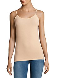 Vince Solid Wool Blended Camisole Khaki