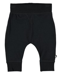 Molo Sammy Solid Knit Pants Size 6 24 Months Black