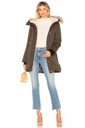 Soia And Kyo Saundra Jacket With Fur Trim Green