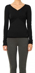 Leon Max Fine Wool Jersey Long Sleeved Top