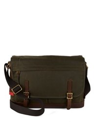 Fossil Defender Messenger Bag Green