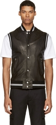 Diesel Black Gold Black Leather Laversity S Vest