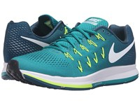 Nike Air Zoom Pegasus 33 Rio Teal White Midnight Turquoise Volt Men's Running Shoes Blue