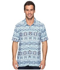Quiksilver Lono Plein Air Men's Short Sleeve Button Up Blue