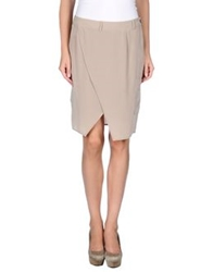 Gold Case Knee Length Skirts Dove Grey