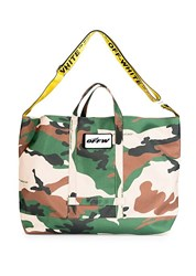 Off White Camouflage Open Tote