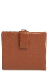Longchamp Women's 'Le Foulonne' Pebbled Leather Wallet Brown Cognac