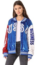 Ashish Usa Dodgers Varsity Jacket Red White Blue