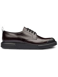 Prada Opaque Derby Shoes Brown