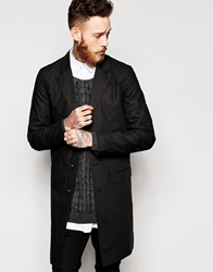 Asos Duster Coat In Lightweight Black