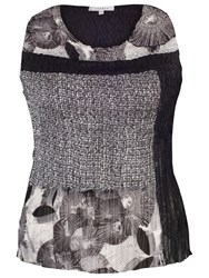 Chesca Patchwork Printed Camisole Black Ivory
