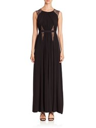 Bcbgmaxazria Sleeveless Cutout Back Jersey Gown Black