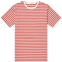 Nanamica Coolmax Stripe Jersey Tee Red