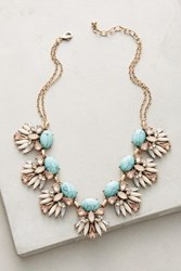 Anthropologie Larca Bib Necklace Turquoise