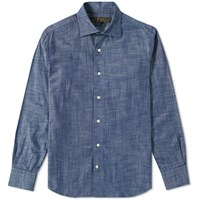 Freemans Sporting Club Hopkins Chambray Shirt Blue