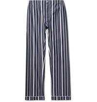 Sleepy Jones Marcel Striped Cotton Pyjama Trousers Navy