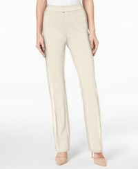 Charter Club Solid Ponte Straight Leg Pant Only At Macy's Vintage Cream