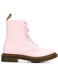 Dr. Martens Lace Up Ankle Boots Pink And Purple