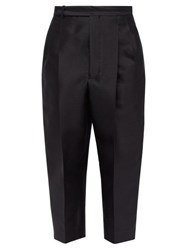Haider Ackermann Cropped Wool Blend Twill Trousers Black