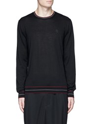 Alexander Mcqueen Skull Patch Cashmere Sweater Black