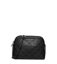 Michael Kors Cindy Large Studded Leather Crossbody Black