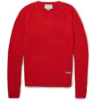 Gucci Wool And Cashmere Blend Sweater Red