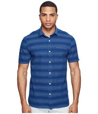 Jack Spade Stripe Dobby Shirt Indigo Men's Clothing Blue