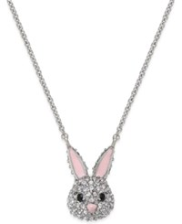 Kate Spade New York Silver Tone Crystal Bunny Necklace