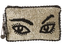 Mary Frances Watch Out Coin Purse Silver Black Coin Purse Gray