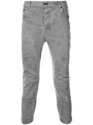 The Viridi Anne Cropped Panelled Trousers Grey