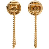 Givenchy Gold Small Gv Earrings 710 Gold