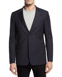Theory Tonal Textured Suiting Jacket Blue