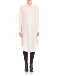 Equipment Pascal Elongated Silk Tunic Natural White