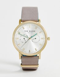 Ted Baker Brit Leather Watch Grey