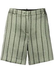 Emporio Armani Striped Fitted Shorts Green