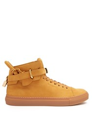 Buscemi 100Mm Core Clip Suede High Top Trainers Tan