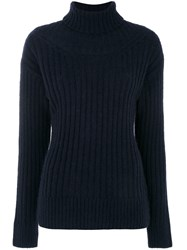 3.1 Phillip Lim Classic Knitted Sweater Polyamide Wool Alpaca Xs Blue