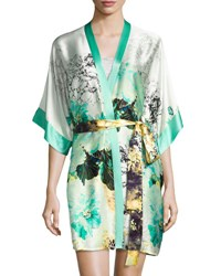 Christine Designs Silk Short Robe Ibiza Print