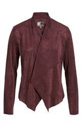Kut From The Kloth Tayanita Faux Suede Jacket Burgundy