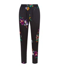 Etro Iris Silk Pyjama Trousers Female Black