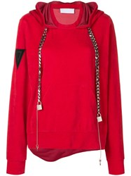 No Ka' Oi Chain Drawstring Hoodie Red