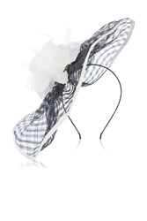 Coast Efa Weave Fascinator Black White Black White