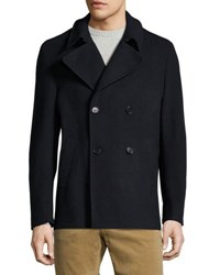Pya Double Breasted Cashmere Pea Coat Blue